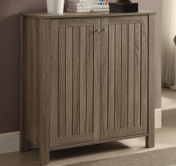 Dark Taupe Four Shelf Shoe Cabinet by Coaster