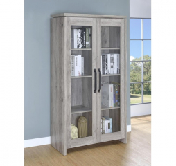 Gray Driftwood Two Door Tall Curio Cabinet by Coaster