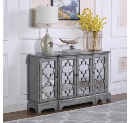 Gray Four Door Accent Cabinet by Coaster