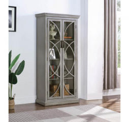 Antique Gray Two Door Display Tall Cabinet by Coaster