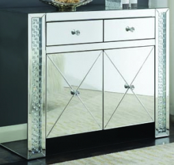 Clear Mirror Two Drawer Accent Cabinet by Coaster
