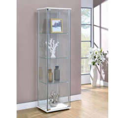 Clear Rectangular Curio Cabinet w/ Four Shelves by Coaster