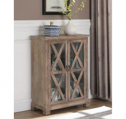 Antique Brown Two Door Accent Cabinet by Coaster