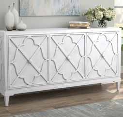 Antique White Three Door Accent Cabinet by Coaster