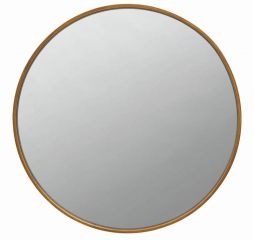 Round Mirror Brass by Coaster