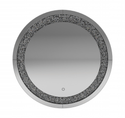 Silver Round Wall Mirror by Coaster