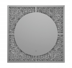 Black and Silver LED Wall Mirror by Coaster