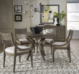 Greystone Round to Oval Pedestal Table by Legacy Classic