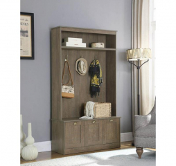 Aged Oak Storage Base Hall Tree w/ Three Hooks by Coaster