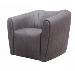 Brown Upholstered Swivel Chair by Coaster