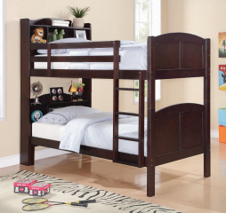 Parker Twin Bookcase Bunk Bed