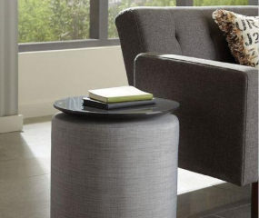 Round Accent Table w/ Ottoman by Coaster