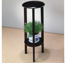 Espresso Accent Table w/ Bottom Shelf by Coaster