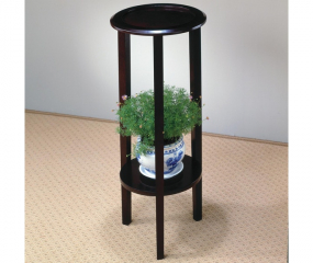 Espresso Accent Table w/ Bottom Shelf by Coaster