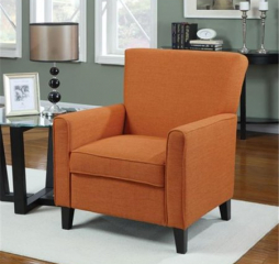 Casual Orange Accent Chair by Coaster