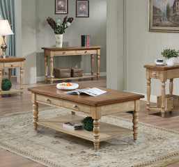 Quails Run Two Drawer Coffee Table by Winners Only