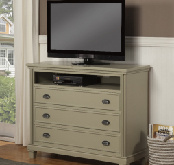 City Three Drawer Console w/ One Cubby by North American Wood
