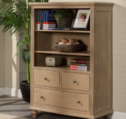 Hepburn Three Drawer Bookcase w/ Two Adjustable Shelves by North American Wood
