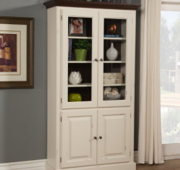Getty Bookcase w/ Two Glass Doors and Two Raised Panel Doors by North American Wood