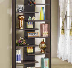 Casual Dark Cappuccino Bookcase by Coaster