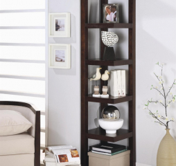 Transitional Cappuccino Bookcase by Coaster