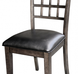 Bristol Point Grid Back Upholstered Side Chair by A America