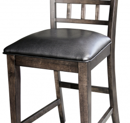 Bristol Point Gridback Upholstered Bar Stool by A America