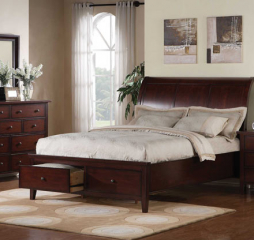 Vintage Sleigh Storage Bed by Winners Only