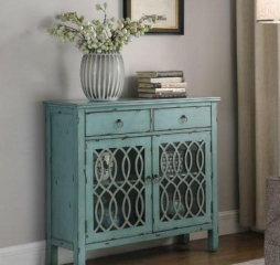 Blue Two Drawer Accent Cabinet by Coaster