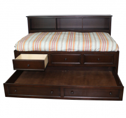 Captains Bedroom Bed w/ Three Drawers by North American Wood