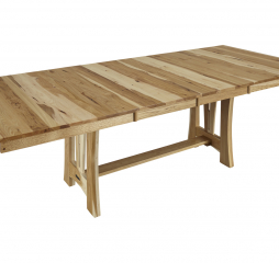 Cattail Bungalow 60″ Trestle Dining Table w/ Two 18″ Leaves by A America