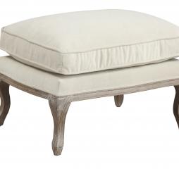 Salerno Ottoman-Sand W/cushion by Emerald Home Furnishings