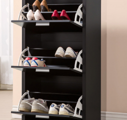 Black Three Drawer Shoe Cabinet by Coaster