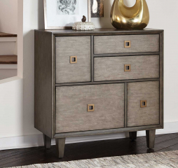 Weathered Gray Three Drawer Accent Cabinet by Coaster