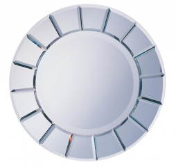 Silver Round Sun Shaped Mirror by Coaster