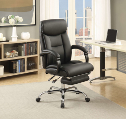 Transitional Chrome Office Chair by Coaster