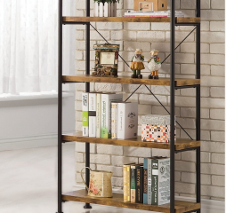 Barritt Industrial Antique Nutmeg Bookcase by Coaster