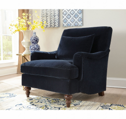 Traditional Midnight Blue Accent Chair by Coaster