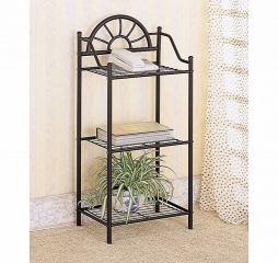 Warm Brown Three Shelf Accent Table by Coaster