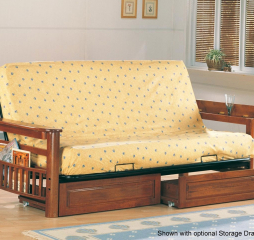 Traditional Oak Futon Frame by Coaster