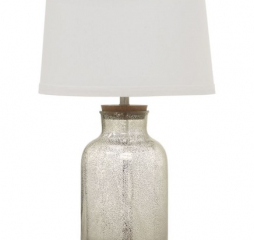 Antique Mercury Speckled and White Empire Shade Table Lamp by Coaster