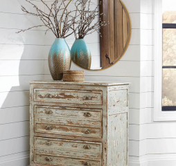 Antique White and Mint Three Drawer Accent Cabinet by Coaster