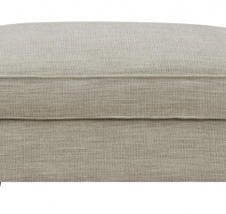 Repose Cocktail Ottoman Silver by Emerald Home Furnishings