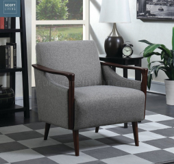 Woven Mid-Century Modern Gray Accent Chair by Coaster
