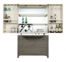 Jenga Bar Cabinet by Emerald Home Furnishings