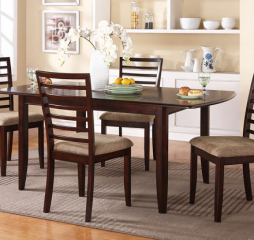 Brownstone Leg Table w/ 12″ Leaf by Winners Only