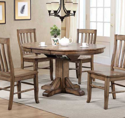 Carmel Pedestal Table w/ Butterfly Leaf by Winners Only