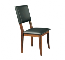 Denmark Black Cushioned Side Chair by Winners Only