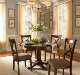 Desoto 42″ Pedestal Table w/ 18″ Leaf by A America