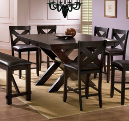 Edgewater 54″ X Base Tall Table w/ 12″ Leaf by Winners Only